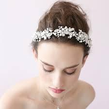 bridal headbands european and american simple handmade wedding dress white flower