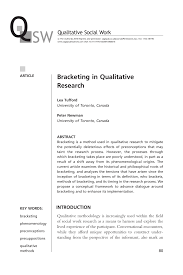 what is abstract in thesis bracketing in qualitative research pdf download available