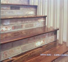 Laminate Flooring On Steps Thin Brick Step Risers Thin Brick Pinterest Thin Brick