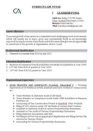 accountant resume format accounts resume format in word