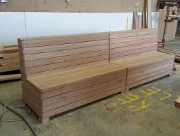 timber booth seating