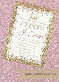 pink and gold baby shower invitations baby shower invitation princess baby shower pink and gold crown