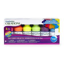 imaginarium creations 6 pack neon tempera paint toys