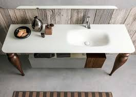 stylish white sink and modern wall mount cabinet by artelinea i