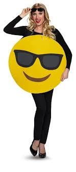 emoji costume cool sunglasses emoji unisex costume 375403