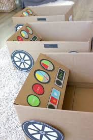 drive in movie summer fun cardboard boxes box and cars