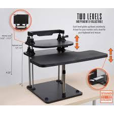 2 level computer desk uptrak dual level standing desk adjustable stand up xl sit converter steady uptrakdblf 834 jpg v 1520438438