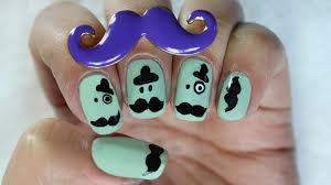 unha bigode mustache desenho cartoon mustache nail art cartoon