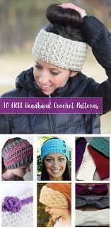 crochet hairband free crochet headband patterns crafty tutorials