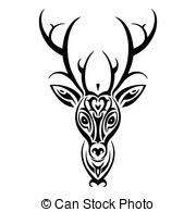 deer tribal tattoo stock photos and images 415 deer tribal tattoo