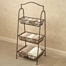 Wrought Iron Bathroom Shelves Bellini Wrought Iron Tiered Basket Storage Rack