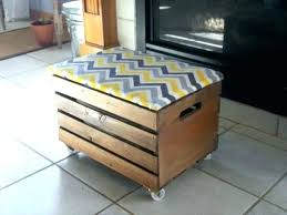 storage ottoman on wheels storage ottoman on wheels ottomans casters crate with round tray cvid
