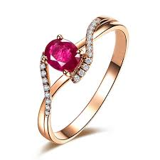 rings ruby images 0 5 ct tw natural oval ruby ring in 14k rose gold shop for jpg