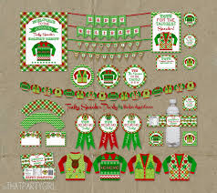frugal funny ugly christmas sweater party invitations features