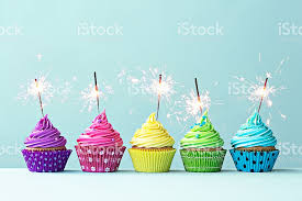 birthday sparklers colorful cupcakes with sparklers stock photo 534920643 istock