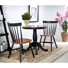 Black Dining Room Table And Chairs by Amerihome Loft Style Glossy Black Dining Set With Wooden Tops