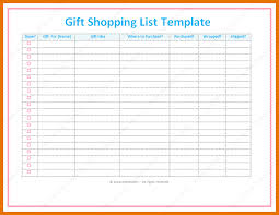 gift shopping list 5 christmas gift list template itinerary template sle
