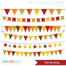 bunting autumn fall bunting clipart thanksgiving banner