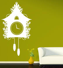 vinyl decal vintage cuckoo clock dreamlike house chains kettlebell