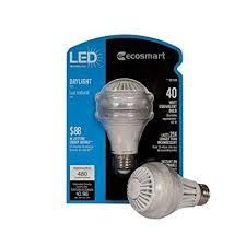 daylight led light bulbs ecosmart 40w equivalent 5000k a19 led light bulb daylight led