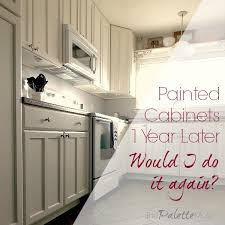 painted cabinets kitchen painted kitchen cabinets one year later the palette muse
