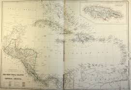 Map Of West Indies Map Of Caribbean And West Indies 1860