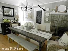 Grey Dining Room by Dining Room Updates A New Chandelier Rooms For Rent Blog