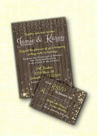 Customized Wedding Invitations Beautiful Rustic Wood Printed Wedding Invitation With Rsvp Rustic