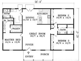 adobe southwestern style house plan 4 beds 2 baths 1722 sq ft
