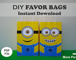 diy minion invitations minion birthday etsy
