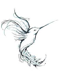black ink outline hummingbird tattoo design in 2017 real photo