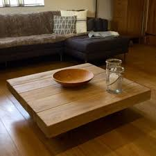 best place to buy coffee table square coffee tables buy floating square oak sleeper table online