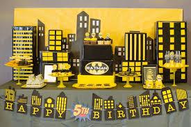 Batman Table Decorations Kara U0027s Party Ideas Batman Birthday Party