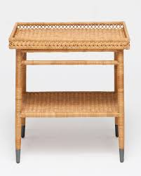 Large Side Table Layla Large Rattan Side Table Mecox Gardens