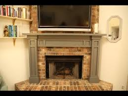 How To Cover Brick Fireplace by Build A Mantel Over A Brick Fireplace Youtube