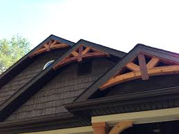 cedar gable bracket details are truly craftsman style at its best