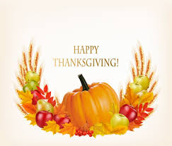 thanksgiving background with colorful leaves and pumpkin fruits