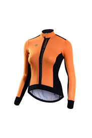 orange cycling jacket monton women u0027s winter fleece windproof cycling jacket for sale