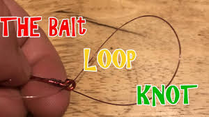 fishing videos how to tie the bait loop knot youtube