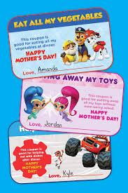 nick jr mother u0027s coupon book nickelodeon parents