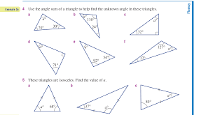 finding missing angles in triangles worksheet missing angles in triangles worksheet worksheets