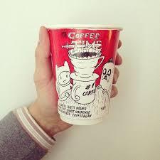 Cup Design Fictitious Caffeine Branding Paper Cup Design