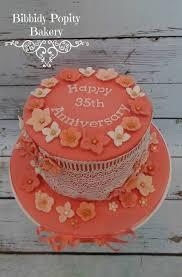 35 wedding anniversary coral 35th wedding anniversary cake anniversary party