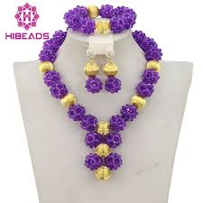 purple fashion jewelry necklace images African purple beads bridal jewelry set 2017 fashion women jewelry jpg