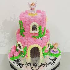 pink two tier fairy castle the on the swing