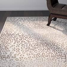 Leopard Print Runner Rug Modern Animal Print Area Rugs Allmodern