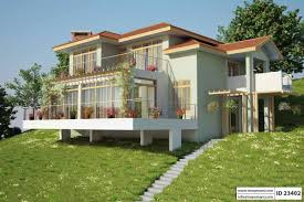 Slope House Plans Slope House Plan With 3 Bedrooms Id 23402 Maramani Com