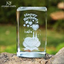 5 5 8cm 3d laser engraved happy birthday cube miniature