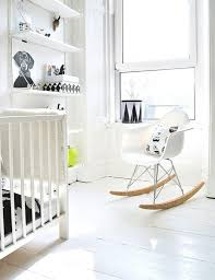 white vintage rocking chair relaxing with rocking chairs