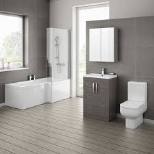 Bathroom Vanity Units Online by Brooklyn Grey Avola Bathroom Suite With L Shaped Bath Online Now